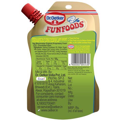 Dr. Oetker FunFoods Veg Mayonnaise Original, 100 g