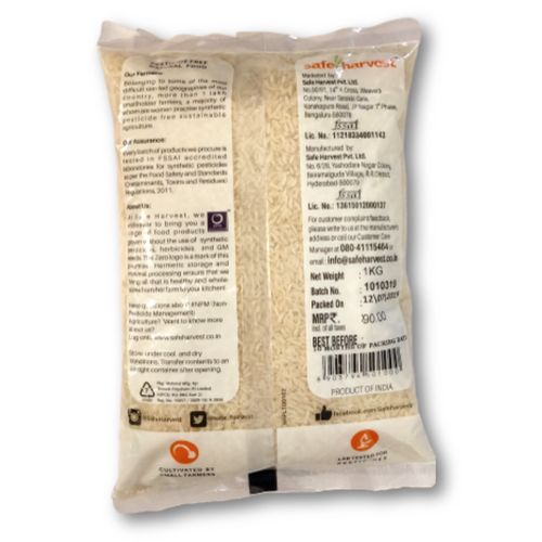 Safe Harvest Sona Masuri Broken Rice - Pesticide Free, 1 kg