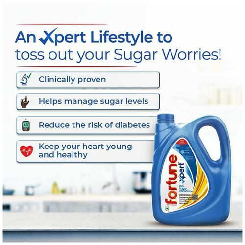 Fortune  Xpert Pro Sugar Conscious Edible Oil, 5 L Jar