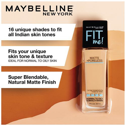 Maybelline New York Fit Me Matte Poreless Liquid Foundation 30 Ml 310 Sun Beige