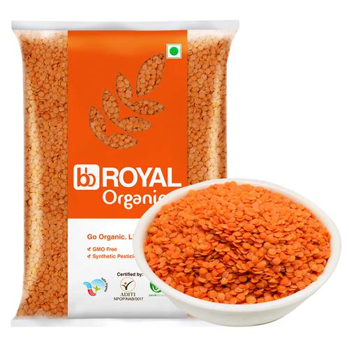 BB Royal Organic - Red Masoor Dal/Mysore Bele, Unpolished, 1 kg