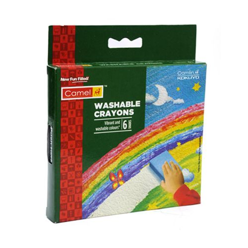 Camlin Washable Crayons - 6 Shades, 1 pc