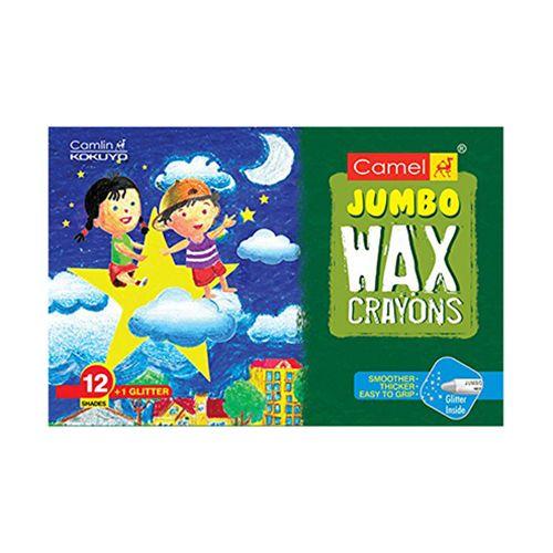 Camlin Wax Crayons - Jumbo, 12 Shades + 1 Glitter Free, 1 pc