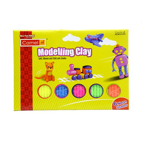 Camlin Modelling Clay - 6 Neon Shades, 1 pc