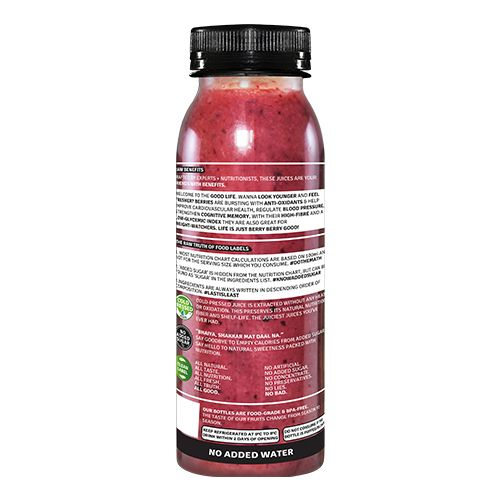 Raw Pressery Life - 100% Natural Cold Pressed Juice With Berries & Banana, 250 ml