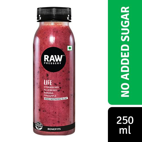 Raw Pressery 100% Natural Cold Pressed Juice -  Life, 250 ml