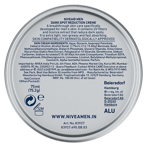 Nivea Men Creme - Dark Spot Reduction Cream, 75 ml