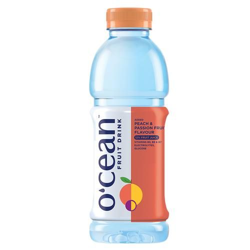 Ocean Fruit Water - Peach & Passion Flavour, 500 ml