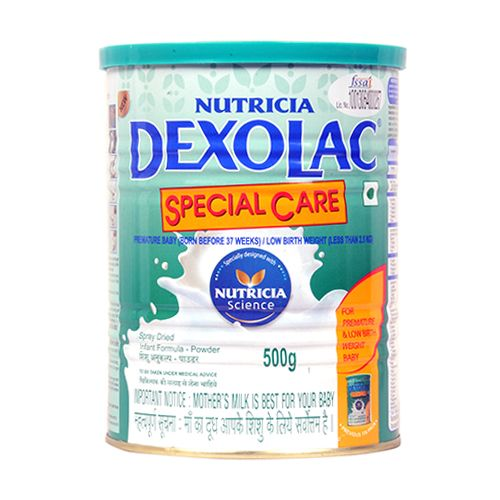 Dexolac High Protein Nutritional Supplement - Special Care Infant Formula,  For Premature & Low Birth Weight Baby, 500 gm