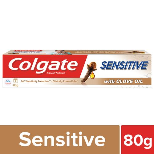 Colgate Toothpaste - Sensitive, Anticavity, With Clove Oil, 80 g
