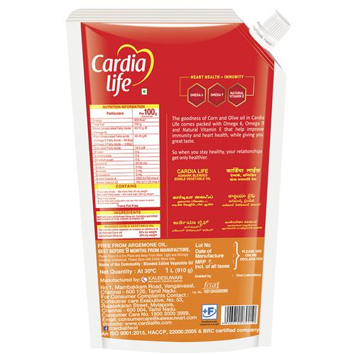 Cardia Life Blended Oil, 1 L Pouch