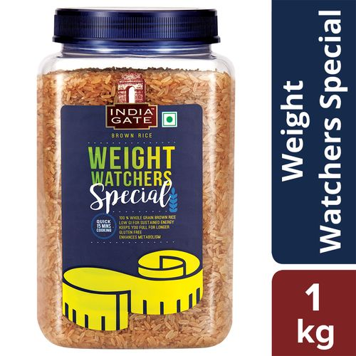India Gate Brown Rice Weight Watcher, 1 kg Jar