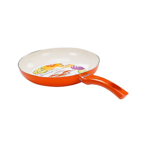 Buy Nirlon Induction Ceramic Fry Pan With Glass Lid 24 Cm