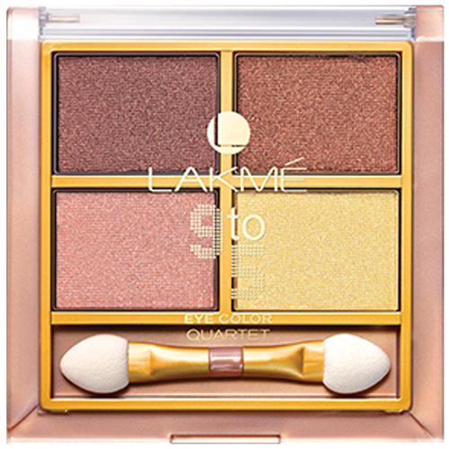 Lakme 9 to 5 Eye Color Quartet Eye Shadow, 7 g Desert Rose