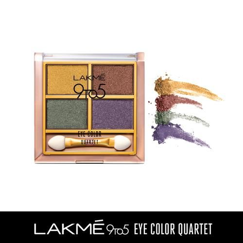 Lakme 9 to 5 Eye Color Quartet Eye Shadow, 7 g Tanjore Rush