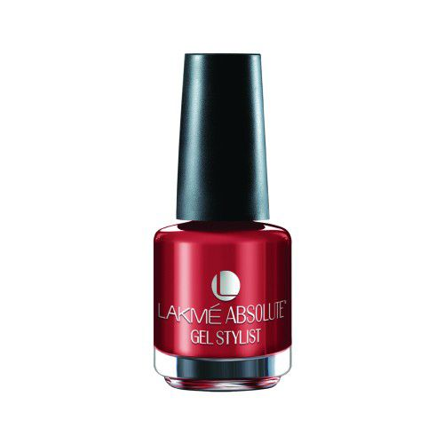 Lakme Absolute Gel Stylist Nail Color, 15 ml Scarlet Red