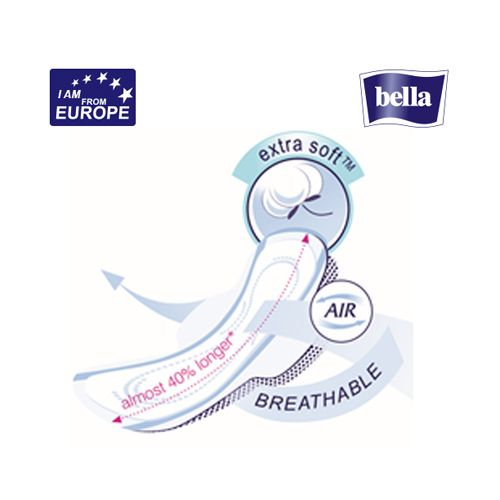 Bella Sanitary Napkins - Perfecta Ultra Xxl Night Ultrathin Covered With Extra Soft, 7 pcs