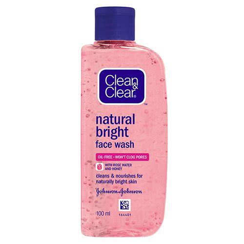Clean & Clear Natural Bright Facewash, 100 ml