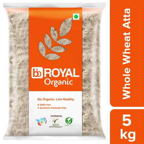 bb Royal Organic - Whole Wheat Atta/Godihittu, 5 kg