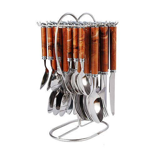 Elegante Viva Stainless Steel Cutlery Set with Stand - Blue, 25 pcs
