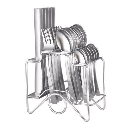 Elegante Zenith Cutlery Set with Stand & Knife, 25 pcs