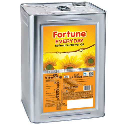 Fortune Everyday Sunflower Oil, 15 L Tin