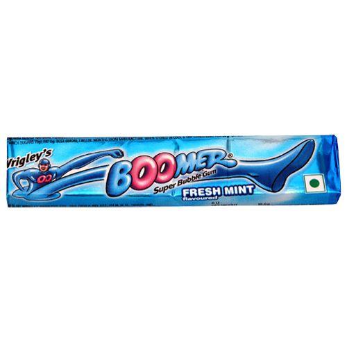 Wrigleys Boomer Bubble Gum - Freshmint Flavor, 18.6 g