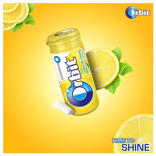 Wrigleys Orbit Chewing Gum - Lemon, Sugarfree, 22 g