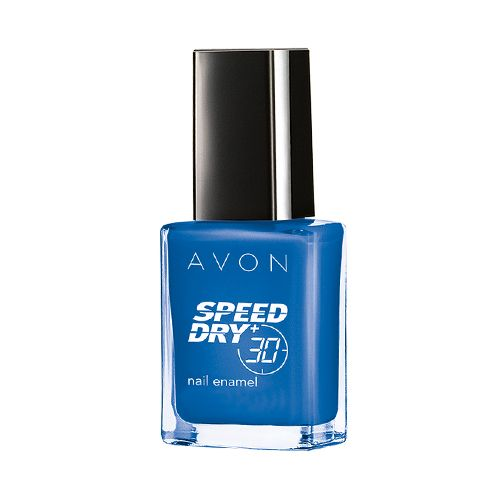 Avon Nail Enamel - Speed Dry+, (Ind), 8 ml On Point Blue