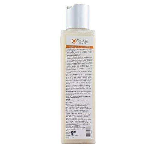 Organic Harvest Liquid Shea & Honey Shower Gel, 200 ml