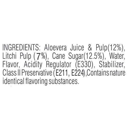 Yoga Pulp Fruit Juice - Litchi With Aloevera, 200 ml