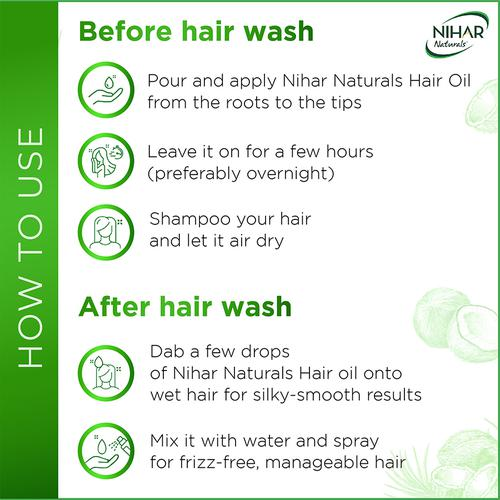 Nihar Naturals Hair Oil - Jasmine, 200 ml