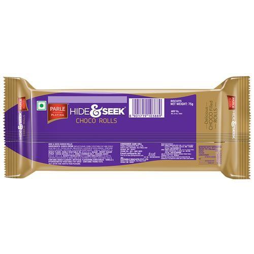 Parle Hide & Seek Choco Rolls, 75 g