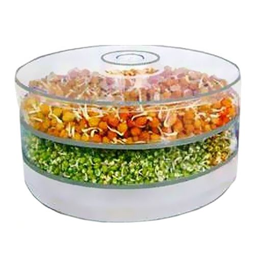 JVS Toss 2 Bin Sprout Maker - Plastic Food Storage, 2 pcs