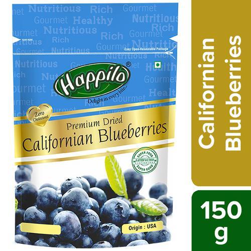 Happilo Premium Dried - Californian Blueberries, 150 g