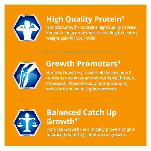 Horlicks Health Drink - Growth+ Nutrition, Chocolate, 200 g Refill Pack
