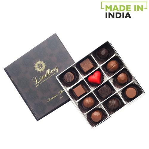 Lindberg Assorted Gift Box - Pure Belgian Chocolate Truffles, 120 g 12 pcs