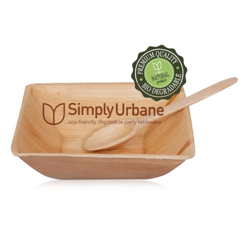 Simply Urbane Palm Dinnerware - Square Bowl, 25 pcs