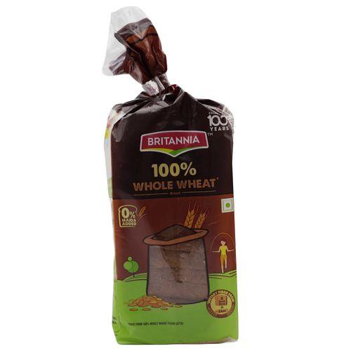 Britannia Bread - 100% Whole Wheat, 450 g