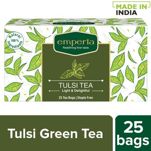 Emperia Tulsi Green Tea, 32.5 g (25 Bags x 1.3 g each)
