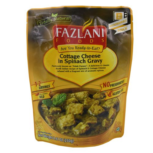 Fazlani Foods Ready To Eat - Palak Paneer, 250 g