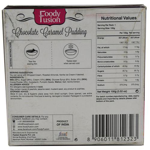Foody Fusion Pudding - Chocolate Caramel, 100 g