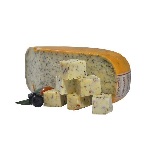 Fresho Signature Gouda Cheese - Wild Garlic, Diced, 100 g