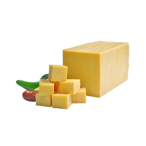 Fresho Signature Cheddar Cheese Block - Yellow, Diced, 100 g