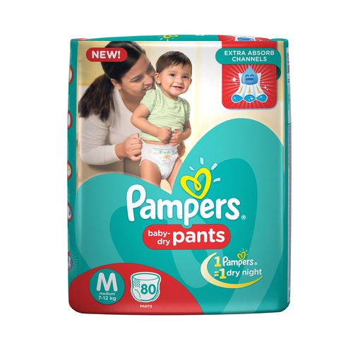 Pampers  Medium - 80 Diaper Pants, 80 pcs