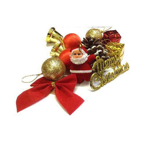 Unique Arts & Interiors Christmas Decoration - Pack Of Mixed Ornaments, 12 pcs