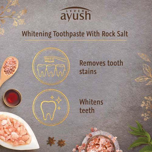Buy Lever Ayush Toothpaste Whitening Rock Salt 80 Gm Online At Best