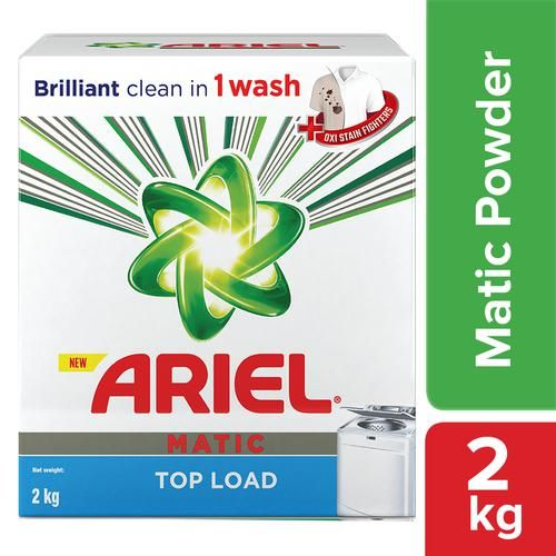 Ariel  Detergent Washing Powder - Matic Top Load, 2 kg