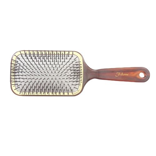 Filone Hair Brush - Brown & Gold, 9595S1, 1 pc