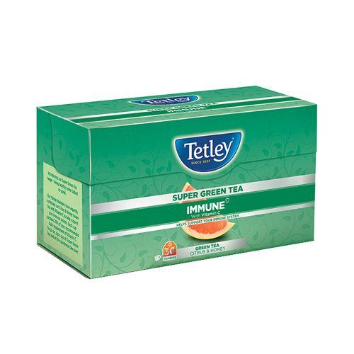 Tetley Green Tea - Immune, Super, 45 g (30 Bags x 1.5 g each)